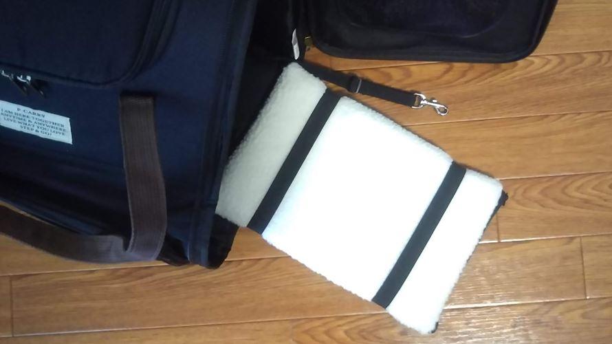 キャリーバッグの底板とフック
