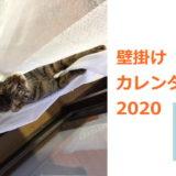 猫と壁掛けカレンダー
